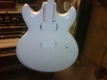 White Painted Guitar Before